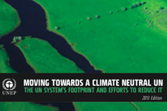 United Nations reports on its 2012 greenhouse gas emissions