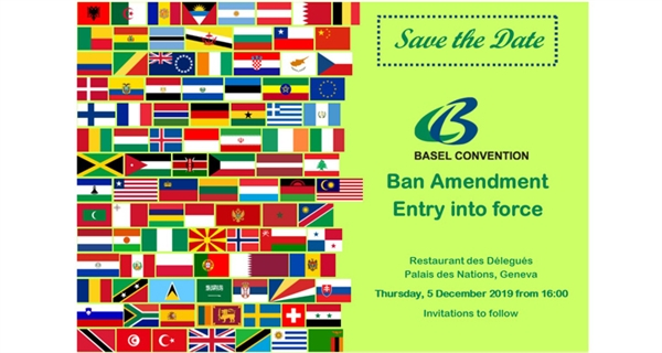 Diplomatic community in Geneva marks the entry into force of the Basel Convention's Ban Amendment