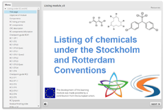 Listing of chemicals training module